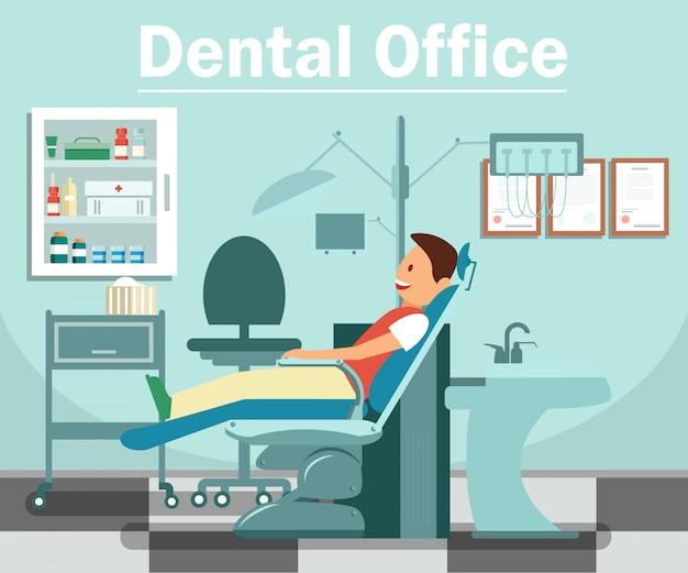 Стоматологический кабинет flat banner