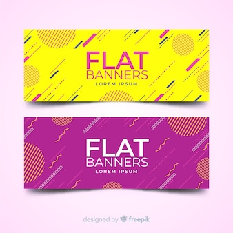 Flat banners