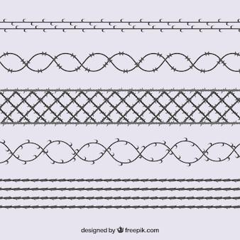 フラット有刺鉄線セット