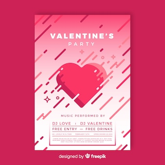 Flat bars valentine party poster