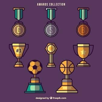 フラットバスケットやサッカーの賞