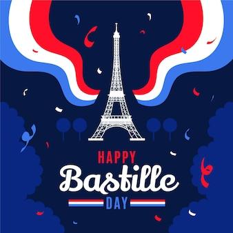フラットバスティーユの日のイラスト