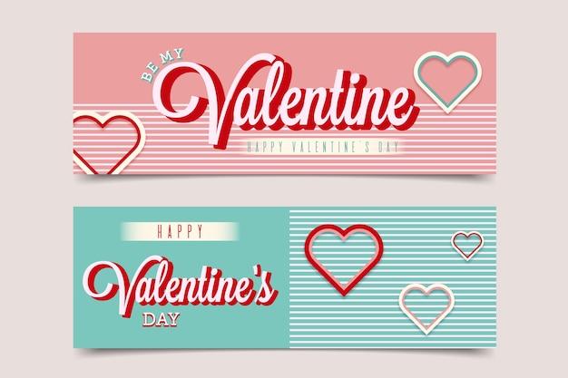 Piatto sia il mio banner di san valentino