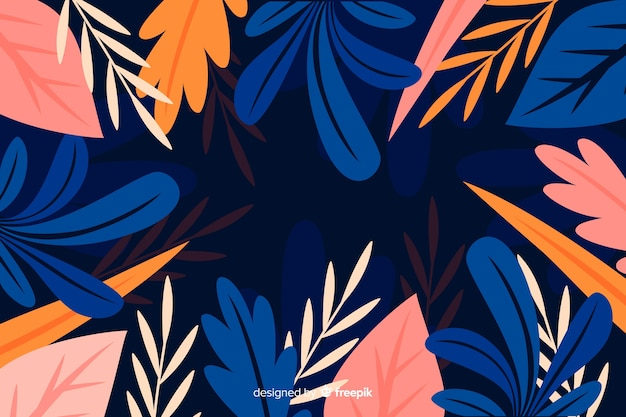 Flat beautiful botanical background style
