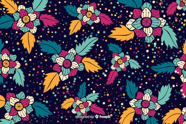 Flat beautiful floral backgroud