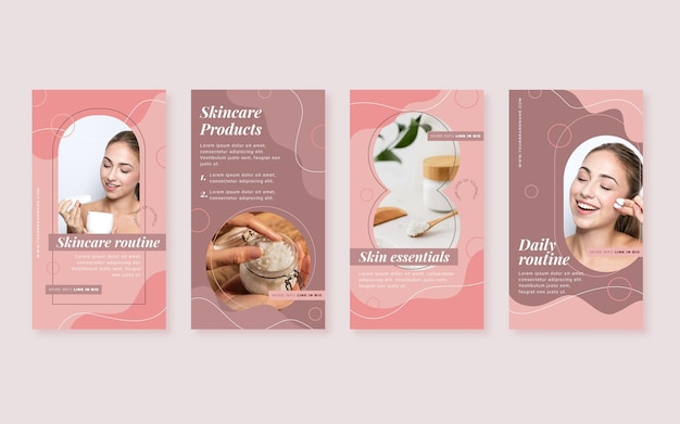 Flat beauty instagram story collection
