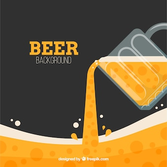 Flat beer background