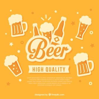 Flat beer design