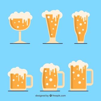 Плоское стекло из пива и кружка