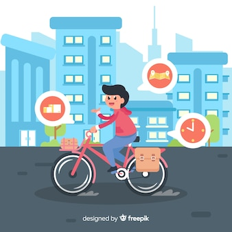 Flat bicycle delivery concept