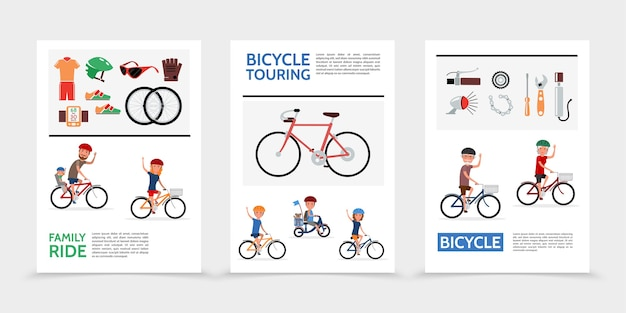 Poster di biciclette piatte