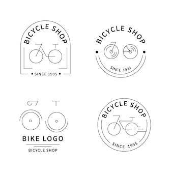 Flat bike logo collection