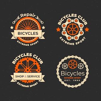 플랫 자전거 로고 컬렉션