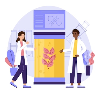 Flat biotechnology concept