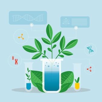 Concetto di biotecnologia piatta