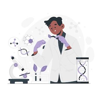 Illustrazione di biotecnologia piatta