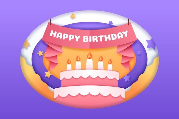 Flat birthday background