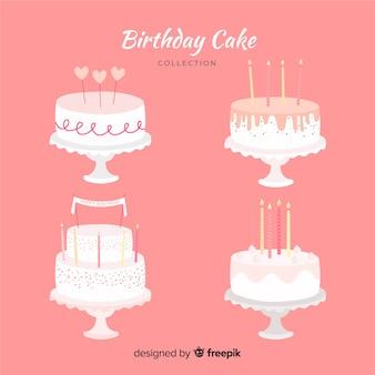 Flat birthday cake collection