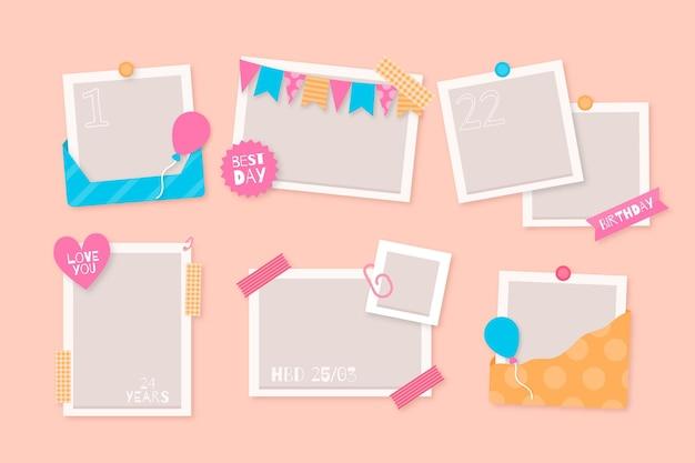 Коллекция рамок для коллажей на день рождения
