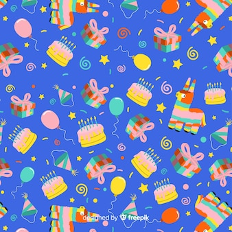 Flat birthday pattern