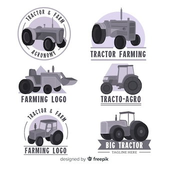 Flat black farm logo collection