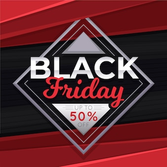 Flat black friday background