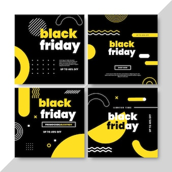 Collezione di post instagram flat black friday