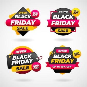 플랫 블랙 프라이데이 판매 레이블 컬렉션