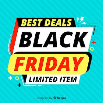 Flat black friday with limited edition offers