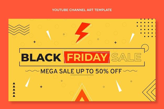 Flat black friday canale youtube art