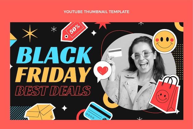 Flat black friday youtube thumbnail
