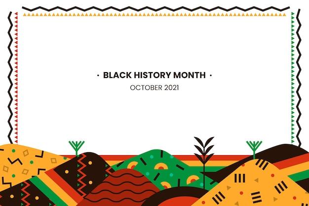 Flat black history month background