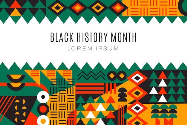 Sfondo del mese di storia nera piatta