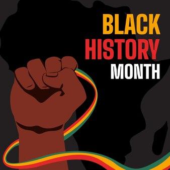 Flat black history month illustration