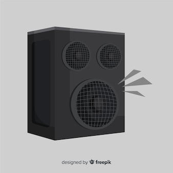 Flat black speaker background