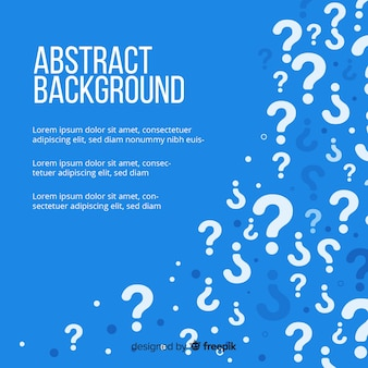 Flat blue question background template