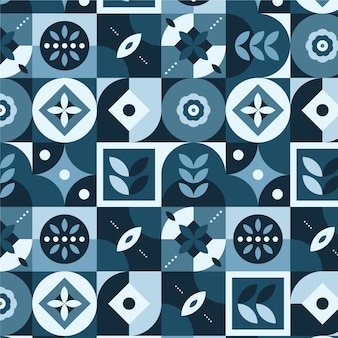 Flat blue scandinavian design pattern