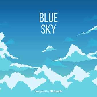 Flat blue sky background