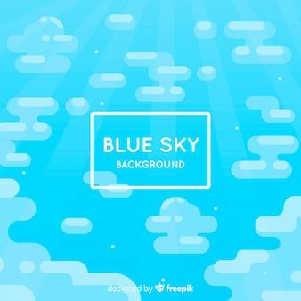 Flat blue sky background