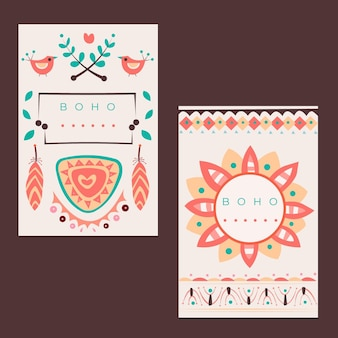 Flat boho covers set