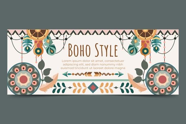 Flat boho facebook cover