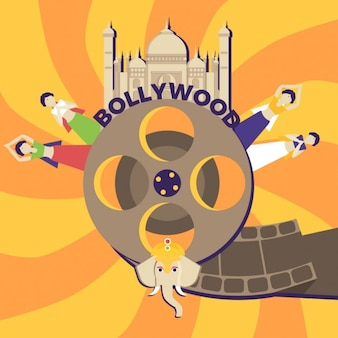 Flat bollywood background