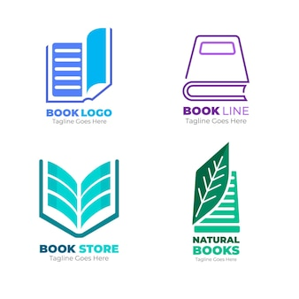 Коллекция логотипов плоских книг