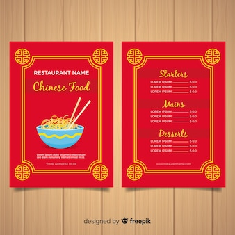 Flat bowl chinese food flyer