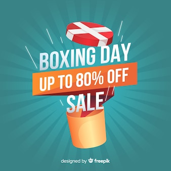 Flat boxing day sale background