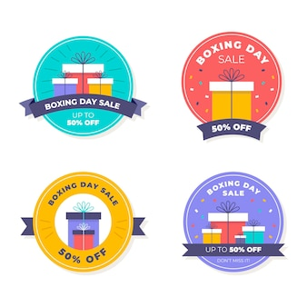 Flat boxing day sale badge collection