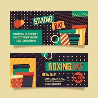 Плоские баннеры день бокса