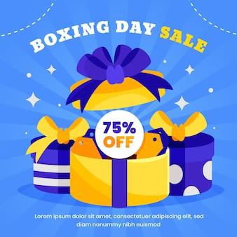 Flat boxing day sale illustration