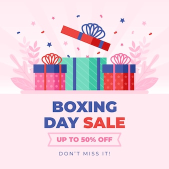 Flat boxing day sale with discount