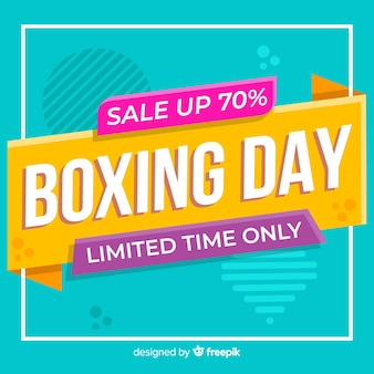 Flat boxing day sale with memphis effect